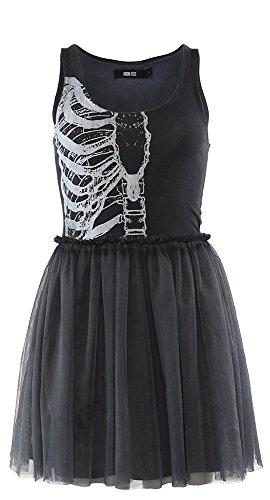 Iron Fist Wishbone Tank Dress (Small, Black)]()