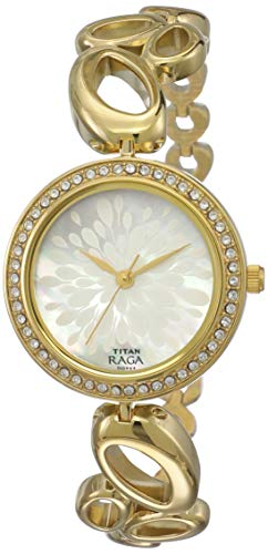 Titan Raga Analog Mother of Pearl Dial Women #39;s Watch  NM2539YM01 / NL2539YM01