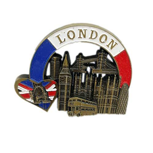 London Magnet Souvenirs United Kingdom London Big Ben Tower Bridge Bus 3D Refrigerator Fridge Magnets Souvenir Sticker Kitchen Resin -