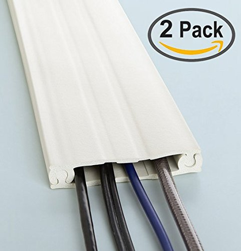 2 Pack | Neoprene Cord Protector & Conealer - UT Wire - 8FT Long - Color Paintable White