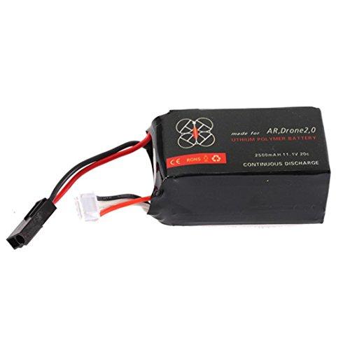Memela 1 Pcs Lipo Battery 11.1V 2500mah 20C for Parrot AR.Drone 2.0 Quadcopter Best by Memela