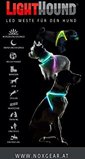 Hunde Leuchtweste   Visibility Vest   Cane Stoviglie Luminoso (Klein Small)