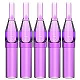 ITATOO 13M1 Tattoo Tips 100pcs 13 Magnum Tips/13 Flat Tips Purple Plastic Disposable Tattoo Tips for 1212F,1213F,1213RM,1213M1,1225M2,1225RM2 Tattoo Needles (13FT)
