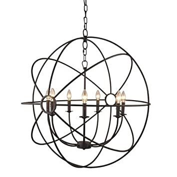 Y Decor LZ32357RS Modern, Transitional ORB 7 Light Chandelier In Dark Bronze Finish, Oil Rubbed Bronze, Brown