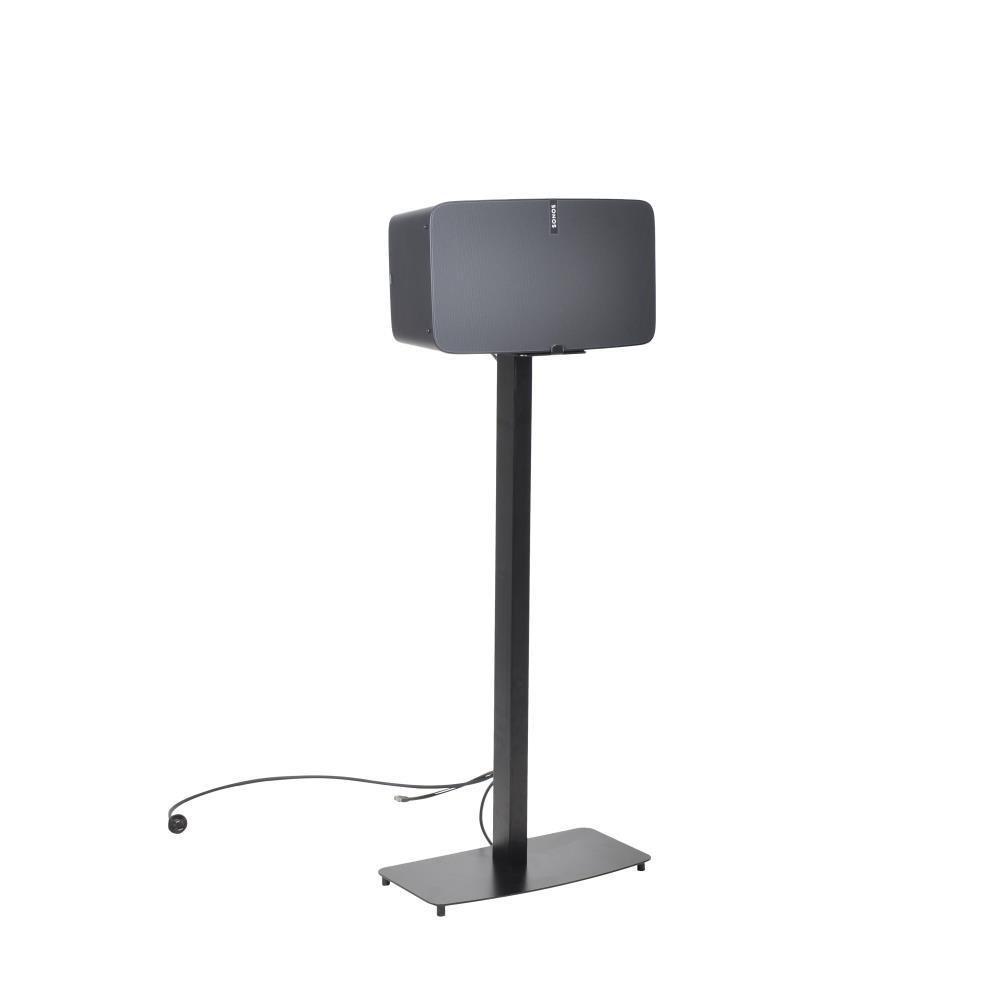 Universal Sonos Speaker Mount Stand - Reinforced Steel 2nd Gen Play 5 Sonos Speaker Holder w/ 14.3 x 6.5 Inch Speaker Tray, Heavy Duty 14.5'' x 9.4'' Base, Powder Coat Finish - Pyle PSTNDSON17 by Pyle