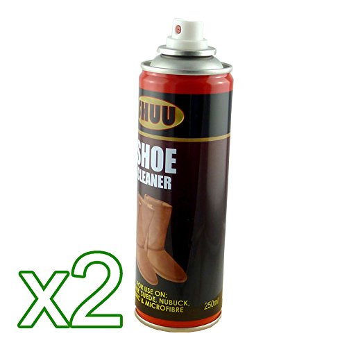 250ml Shoe Cleaner - For Leather, Suede, Nubuck, Fabric And Microfibre (Pack of 2)