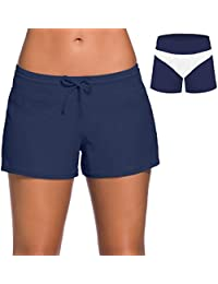 3f4378f92f Board Shorts Women's Swimswear Tankini Swim Briefs Swimsuit Bottom  Boardshorts Beach Trunks
