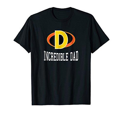 The Incredible Dad Superhero T-Shirt for Men (Collegiate)
