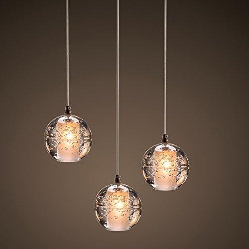 Viento industrial americano pueblo forja 3 cristal lámparas ...