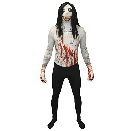 Morphsuits Men's Zalgo Monster Adult Fun Costume, Jeff the Killer, Large -