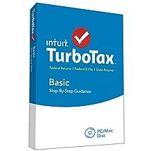 TurboTax Basic 2015 Federal + Fed Efile Tax Preparation Software - PC/MacDisc