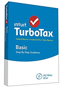 TurboTax Basic 2015 Federal + Fed Efile Tax Preparation Software - PC/Mac Disc
