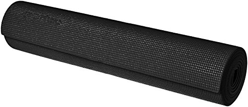 AmazonBasics Yoga & Exercise Mat with Carrying Strap, 1/4, Black