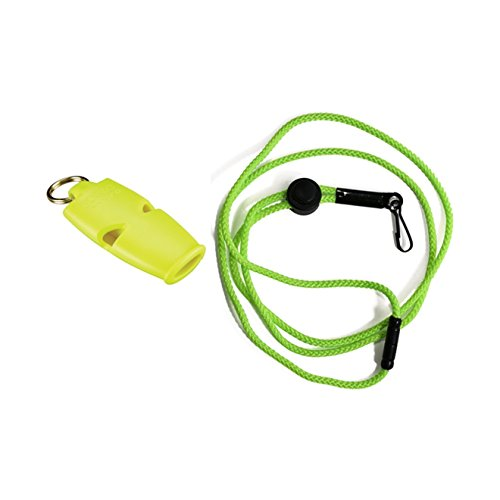 Fox 40 Micro Safety Whistle with Breakaway Lanyard Neon ()