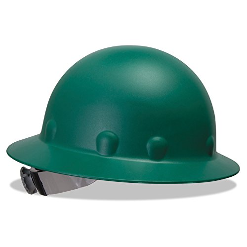 (Fibre-Metal P1ARW74A000 P1A Hard Hats, Super Eight, 8-Point Ratchet, Full Brim, Green)