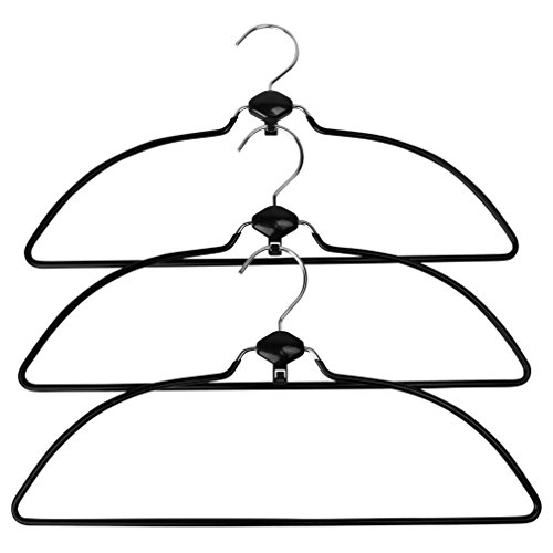 Evelots Swivel Non Slip Rubber Coated Metal Cascading Space Saving Hangers,3 Set