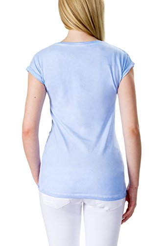 Bellybutton Sarah - T-shirt 1/4 Arm - Camiseta Mujer Blau (skyway 3018)