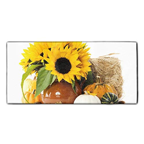 (Sunflowers Nuts Acorns Pumpkins Ears Autumn Dish Towels, Ultra Absorbent, Heavy Duty, Drying & Cleaning, Everyday Kitchen Basic, Dishtowel 11.8 × 27.5)