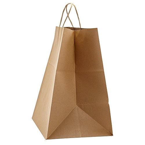 PTP - 14'' x 9.75'' x 15.5'' Natural Kraft Paper Gift Tote Bags - 200 count| Perfect for Birthdays, Weddings, Holidays and All Occasions | White or Natural Colors | Multiple Sizes by Prime Time Packaging Ltd (Image #3)'
