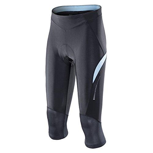 - My Kilometre 3/4 Womens Cycling Shorts, 3D Gel Padding, Girls Active Bike Pants Tight(Medium Blue)