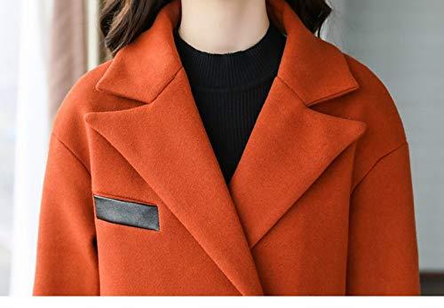 Laine Slim Laine Avec Marea Mode Révers Femme Manteau De En Chêne XQY Longues Slim Caramel D'hiver De qwH0Hp