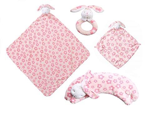 Angel Dear Flower Print Bunny 4 Pcs Gift Set