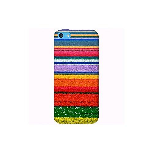 Coque Apple Iphone 5c - Champ de fleurs colorées