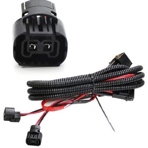(5202 H16 2504 PS24W Adapter Fog Lights Relay Wiring Harness For Chevy Dodge GMC Ford etc)