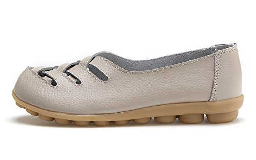 Beige Walking Flat Women's Venuscelia Comfort Loafer Casual HwCEnqx