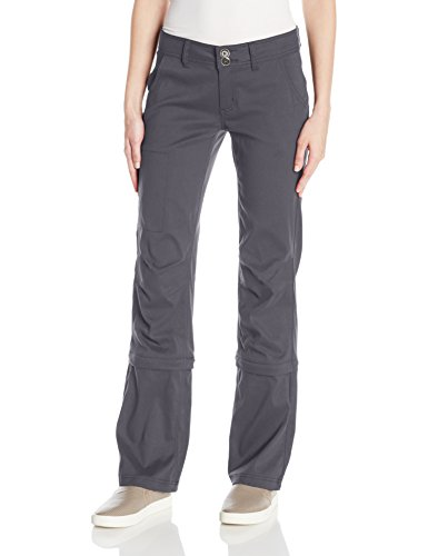 prAna Women's Short Halle Convertible Pants, 8, Coal