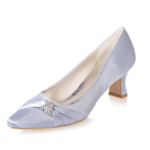 Heel Fine Evening amp; Platform 04 L 0723 Female Evening Pointed Wedding amp; YC Office Silver Wear xPvqa1