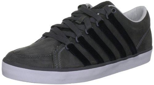 k-swiss-mens-leather-gowmet-ii-p-vnz-trainers-445-eu-charcoal-black-white