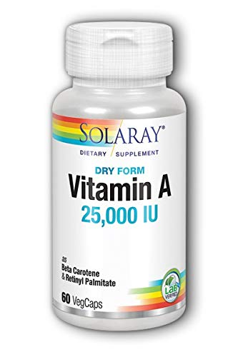 SOLARAY - VIT. A EMULSIED DRY 60CAP. SOL: Amazon.es: Salud y cuidado personal