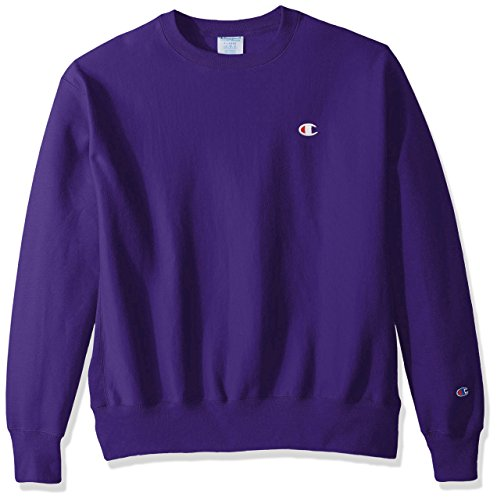 Champion LIFE Men's Reverse Weave Sweatshirt,Purple/Left Chest