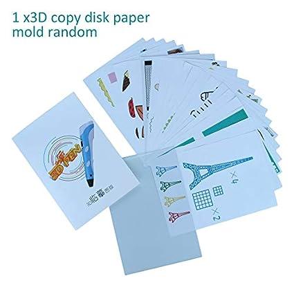 PublicJo - Molde de papel para dibujo de niños tamaño A4, 3D, para ...