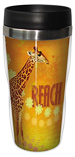 Giraffe Travel Stainless Tumbler 16 Ounce