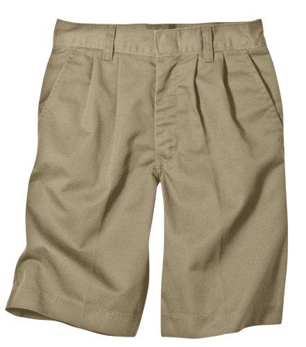 Dickies Big Boys' Pleated Front School Uniform Short, Khaki, 8 - Shorts School Boys Pleated Uniform