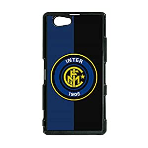 FC Internazionale Milano Logo Hard Plastic Cell Phone Case Flexible Back Case for Sony Xperia Z1 Compact