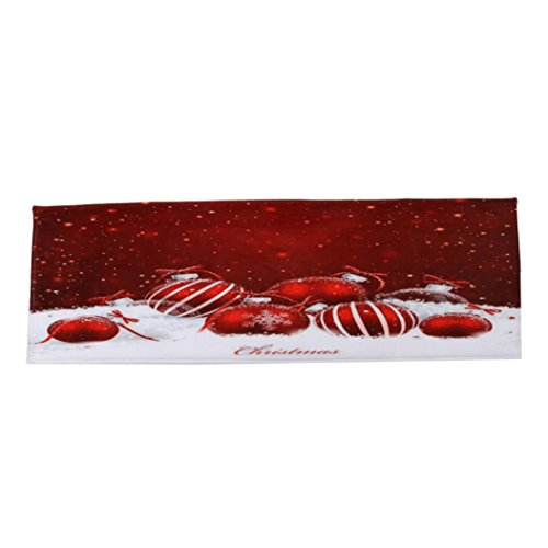 Sothread Christmas Non-slip Decorative Doormat Rectangle Carpet Mat Area Rug 40x120cm (B). by Sothread