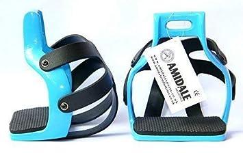ALUMINUM ENDURANCE RIDE CAGED SAFETY HORSE STIRRUPS  SIZE 4.75