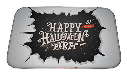 Gear New Memory Foam Bath Rug, Halloween Text Illustration For Halloween Card, 24x17, 6574549GN for $<!--$24.95-->