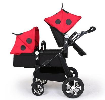 twin baby stroller,double strollers twins ,landscape baby stroller 3 in 1,strollers for twins,baby bassinet,twins prams by vory