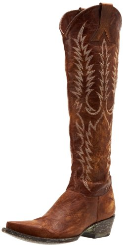 Old Gringo Women's Mayra Western Boot,Vesuvio Brass,7.5 B US (Old Gringo Women Boots)