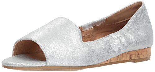 Aerosoles Women's Tidbit Ballet Flat, Silver Leather, 11 M US