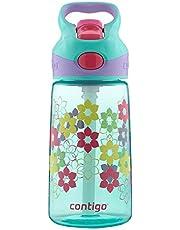 Contigo Autospout StrawStriker Kids Water Bottle, 14-Ounce, Cherry Blossom
