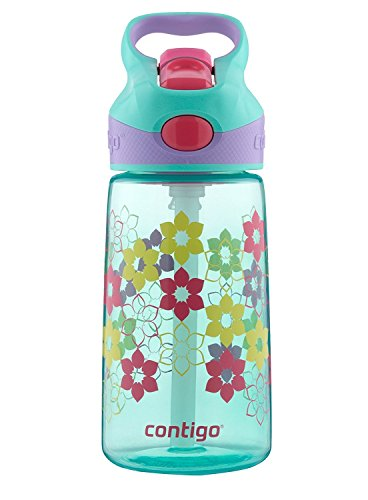 Contigo AUTOSPOUT Straw Striker Kids Water Bottle, 14oz, Ultramarine