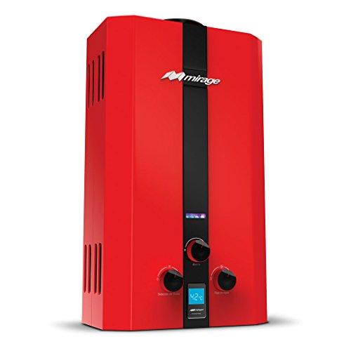 Calentador de agua instantáneo para 2 servicios 10 litros por minuto a Gas LP Flux10L, color rojo