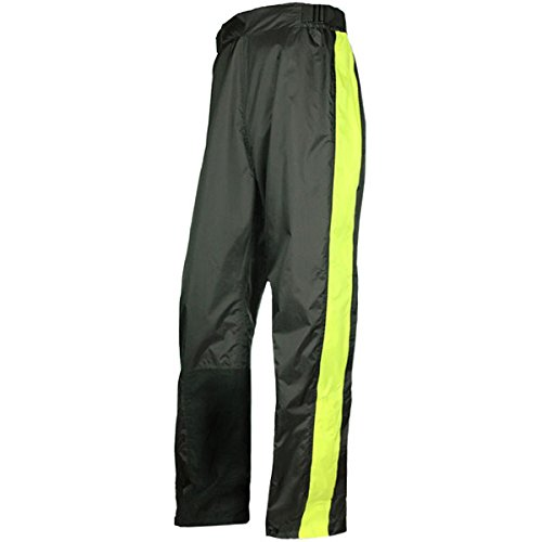 Olympia Horizon Rain Pants - Petite/Black/Neon Yellow