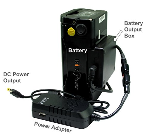 BiXPower MP330DC Battery Pack - Super Capacity 336 Watt-hour Light Weight Battery with Multi Output Voltages (12v/15v/16v/18v/19v/24v) Power Converter Combo Kit by BiXPower