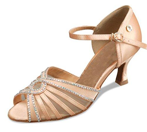 Minitoo , Damen Tanzschuhe , braun - Brown-7.5cm Heel - Größe: 41